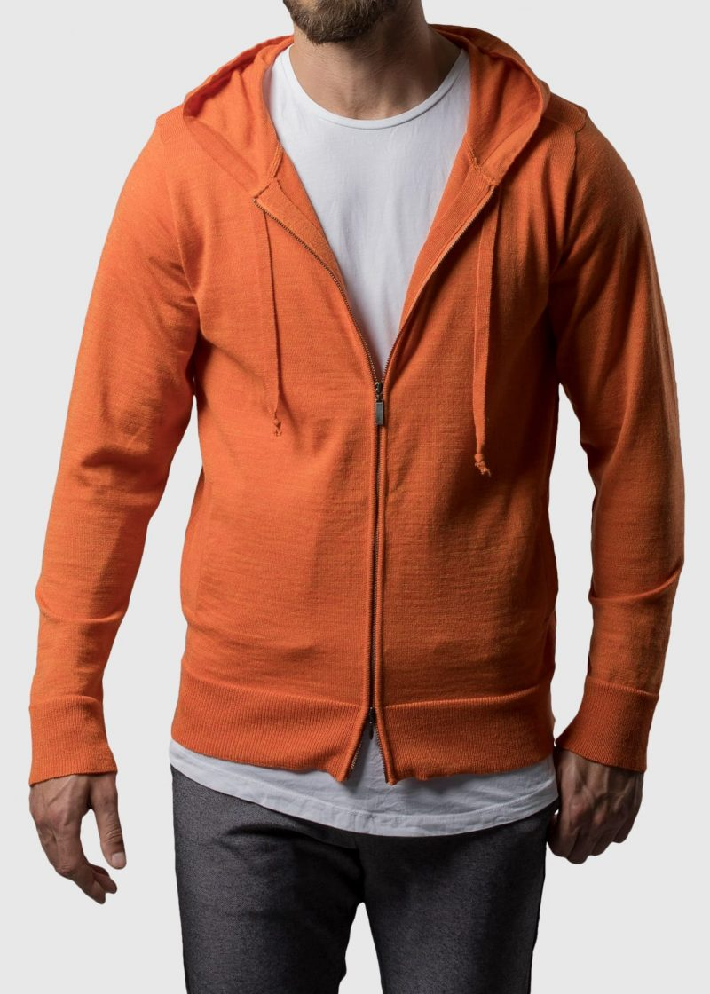 Hoodie in orange Herren von Connemara