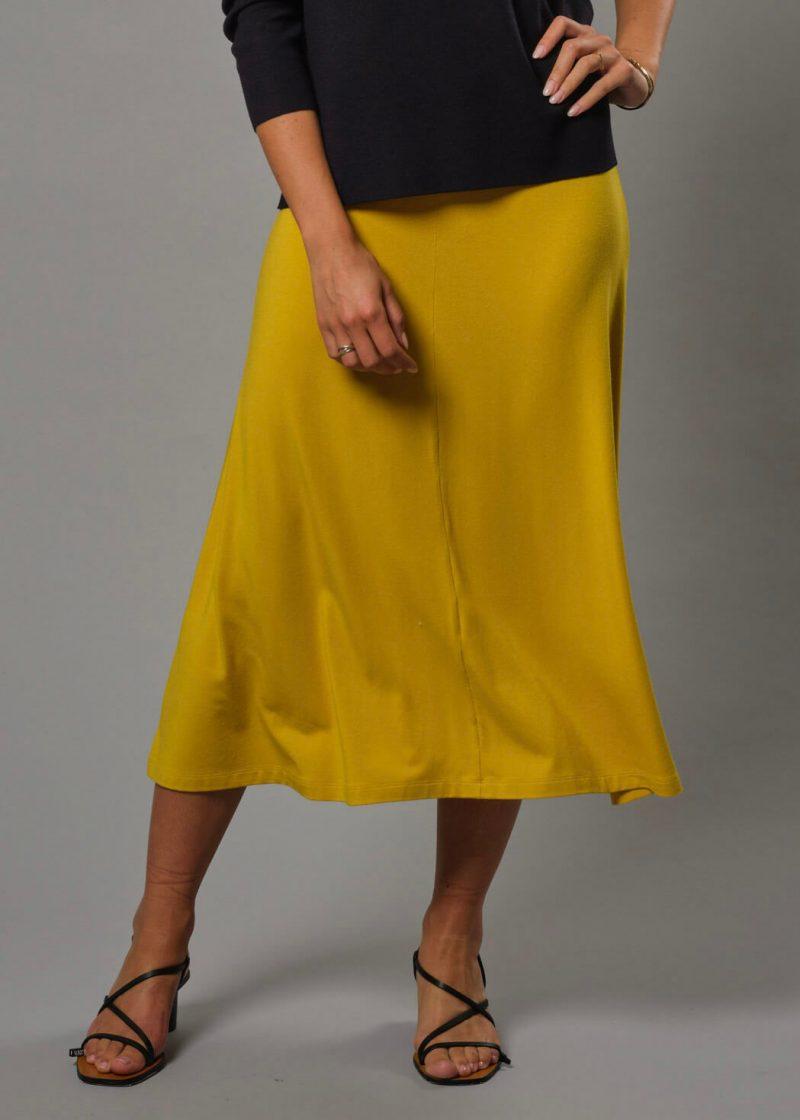 Gelber Rock Damen von Connemara - T Shirt Rock aus Modal
