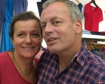 Tina und Jens Wrede in ihrem Shop Just Merino in Potsdam