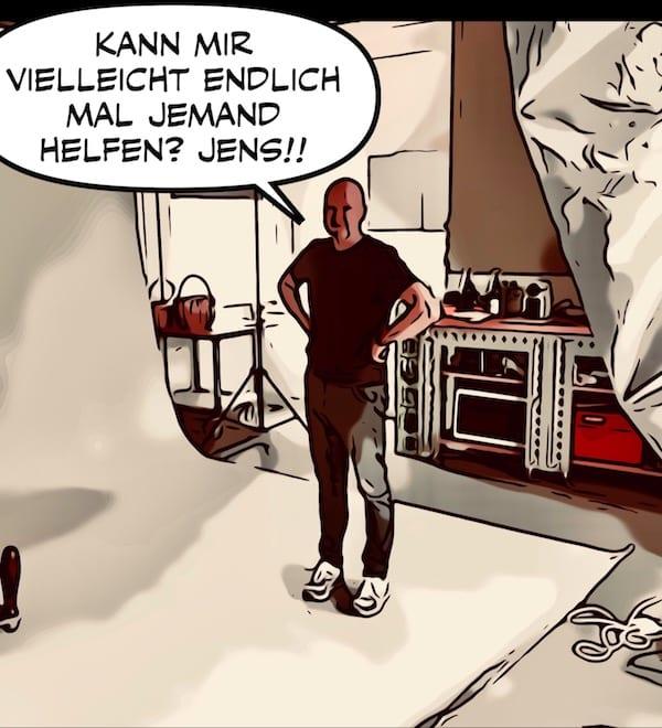 Uli braucht Hilfe von Jens