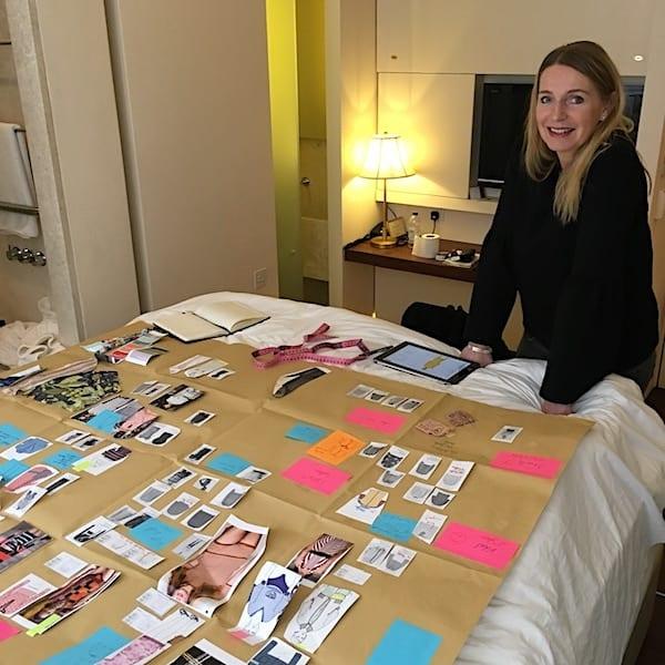 Kerstin Spiekermann bei Ideensammlung für die Connemara Kollektion