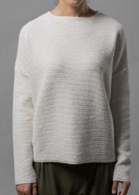 oversized Pullover aus Baumwolle in Wellenoptik von Connemara in creme
