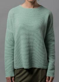 oversized Pullover aus Baumwolle in Wellenoptik von Connemara in mint