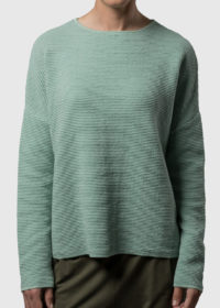 oversized Pullover aus Baumwolle in Wellenoptik von Connemara in mint