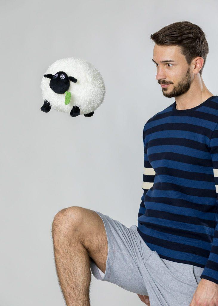 Connemara Pullover Arnauld aus Baumwolle in navy | Made in EU