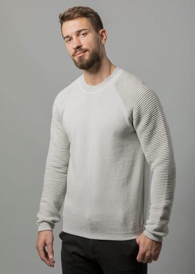 Baumwolle Pullover Herren silbergrau