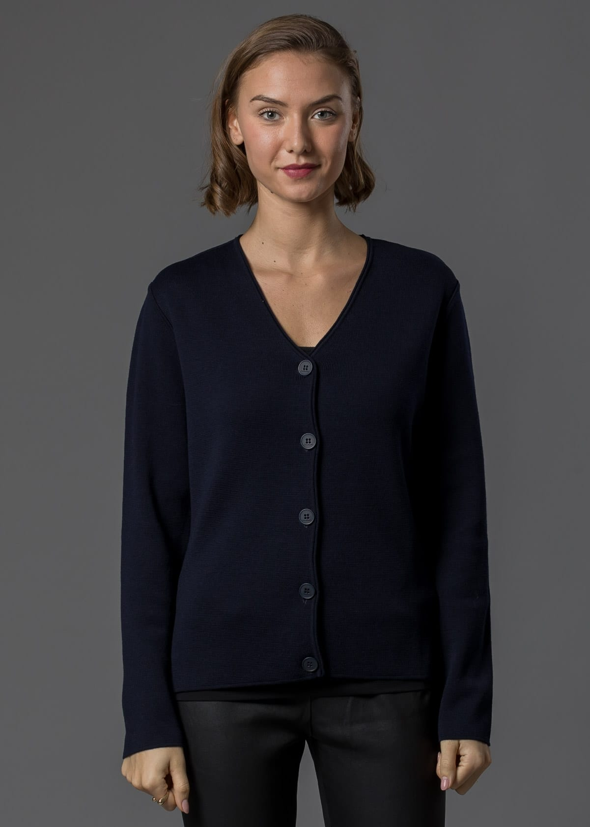 Connemara Jacke Betty Merino marine - Milano Strick