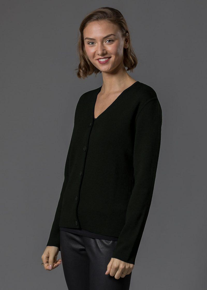 Connemara Milano Strickjacke Damen schwarz