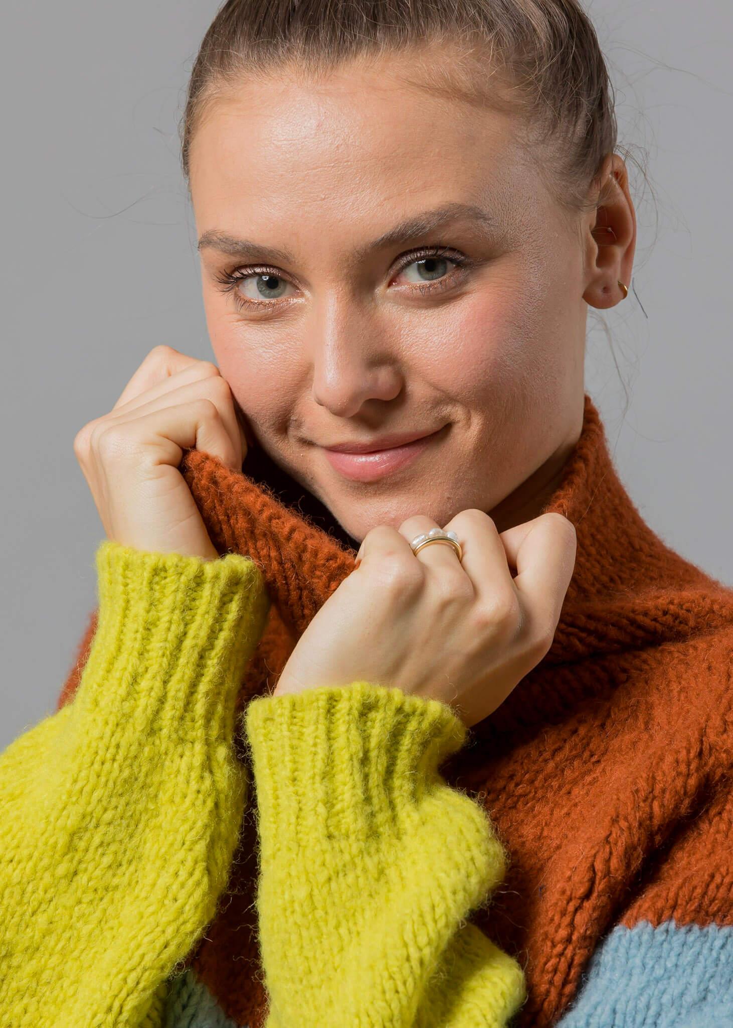 hermine blockstreifen pullover von connemara