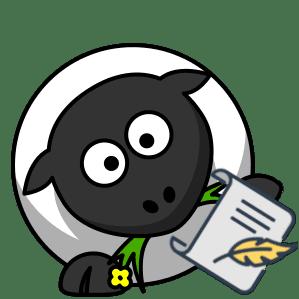 Schaf Symbol zur Hilfe auf der Connemara Homepage