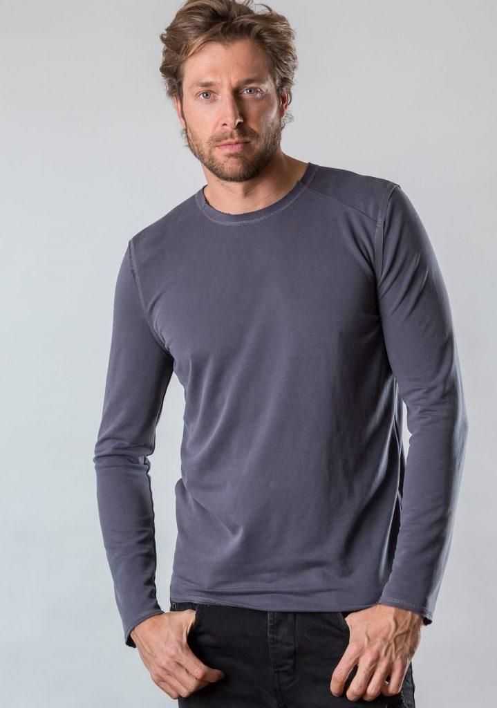 Connemara Shirt Cäsar aus Modal in grau | Made in EU