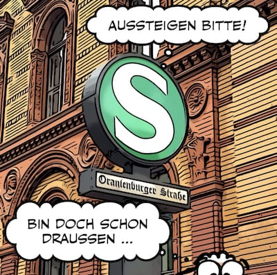 Comic Haltestelle Oranienburger Strasse