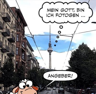 Oranienburger Strasse Berlin mit Fernsehturm