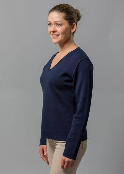 Connemara Pullover Damen blau blau aus Merino