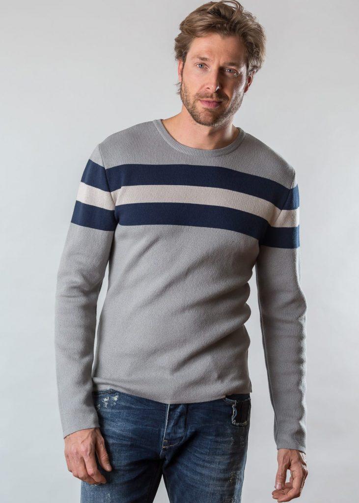 Connemara Pullover Dennis aus Baumwolle in navy | Made in EU