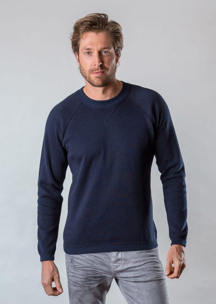 Connemara Pullover Damian aus Baumwolle in navy | Made in EU