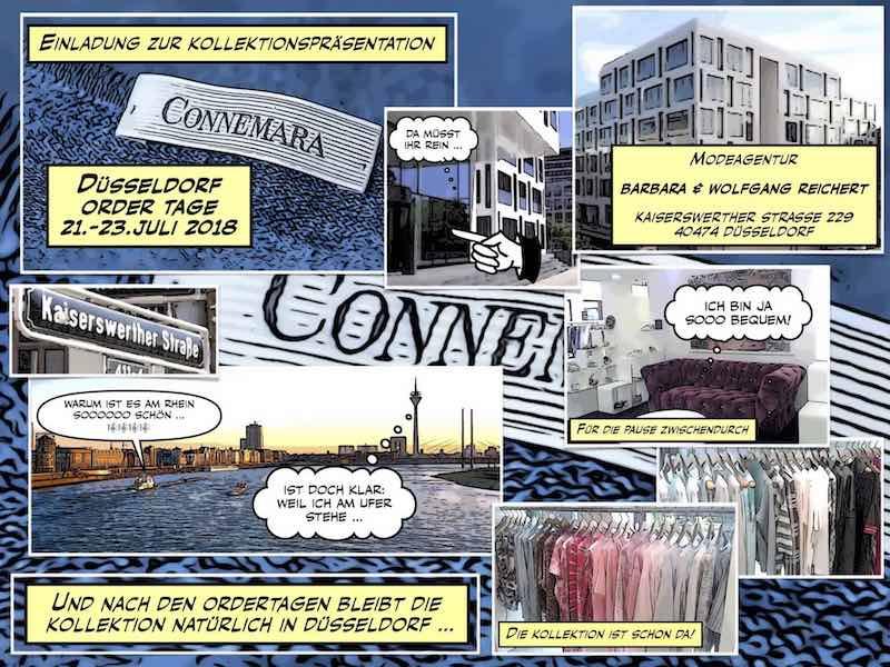 Einladung zur Präsentation der Kollektion Connemara in Düsseldorf