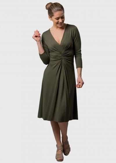 Connemara Sommerkleid olivgrün Gabriela aus Jersey
