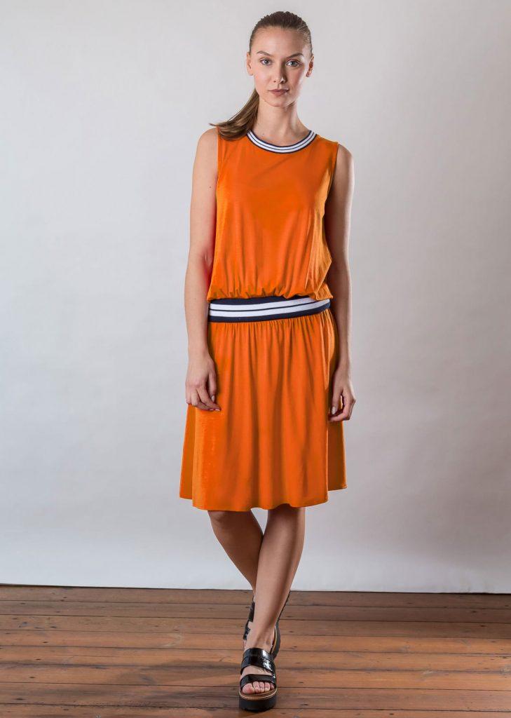 Connemara Kleid Genna aus Viskose | Jersey | orange | Made in EU