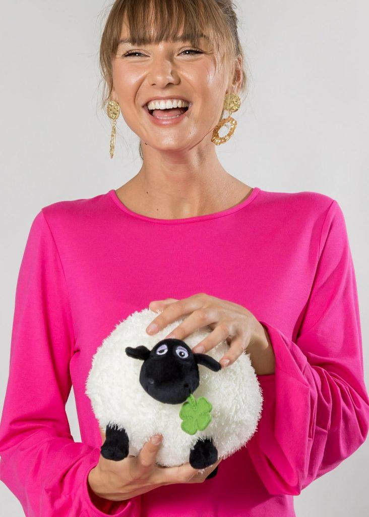 Connemara Shirt Gerda aus Viskose - Elasthan in pink | Made in EU