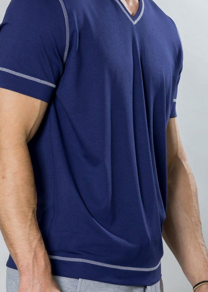 Connemara Shirt Gert aus Viskose - Elasthan in marine | Made in EU