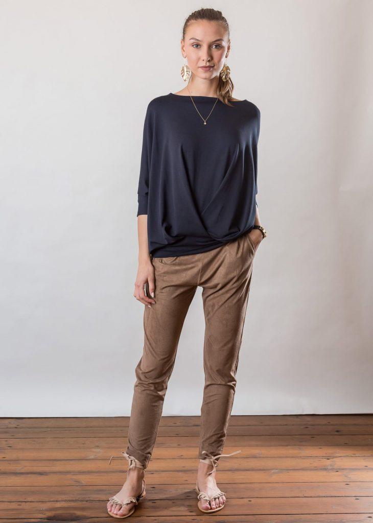 Connemara Shirt Giselle aus Viskose | Jersey | navy | Made in EU