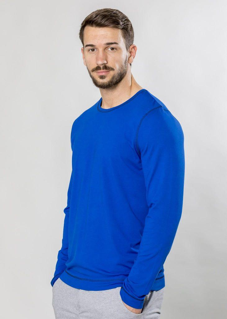 Connemara Shirt Gustavo aus Viskose - Elasthan in royal | Made in EU