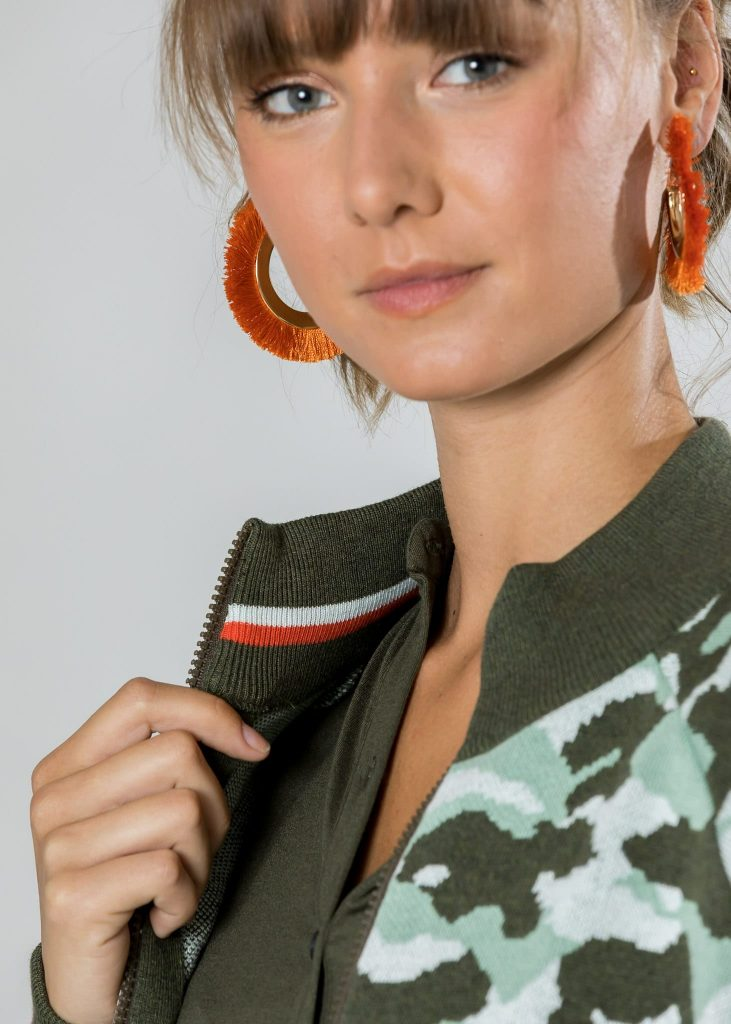 Jacke Amala aus Baumwolle aus Baumwolle in mint|oliv | Made in EU