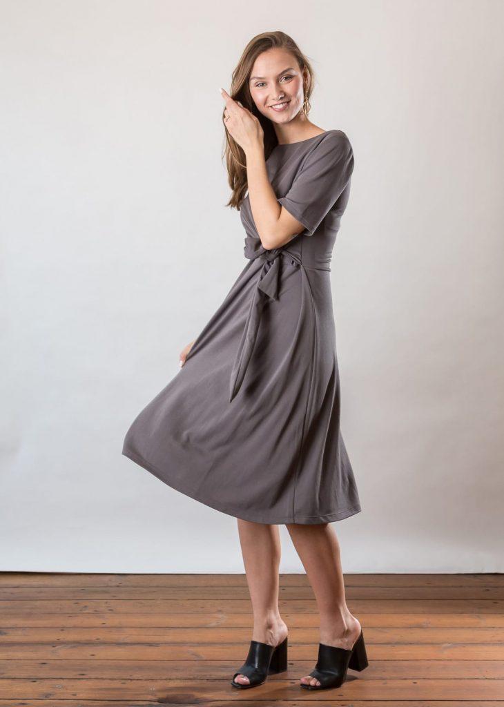 Connemara Kleid Ivette aus Modal | Jersey | grau | Made in EU