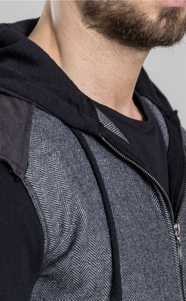 Connemara Jacke Tanguy aus verschiedenen Materialien | grau mit schwarz | Made in EU