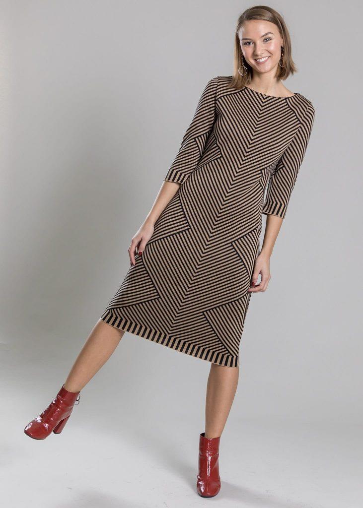Connemara Kleid Britt aus Merinwolle extrafein