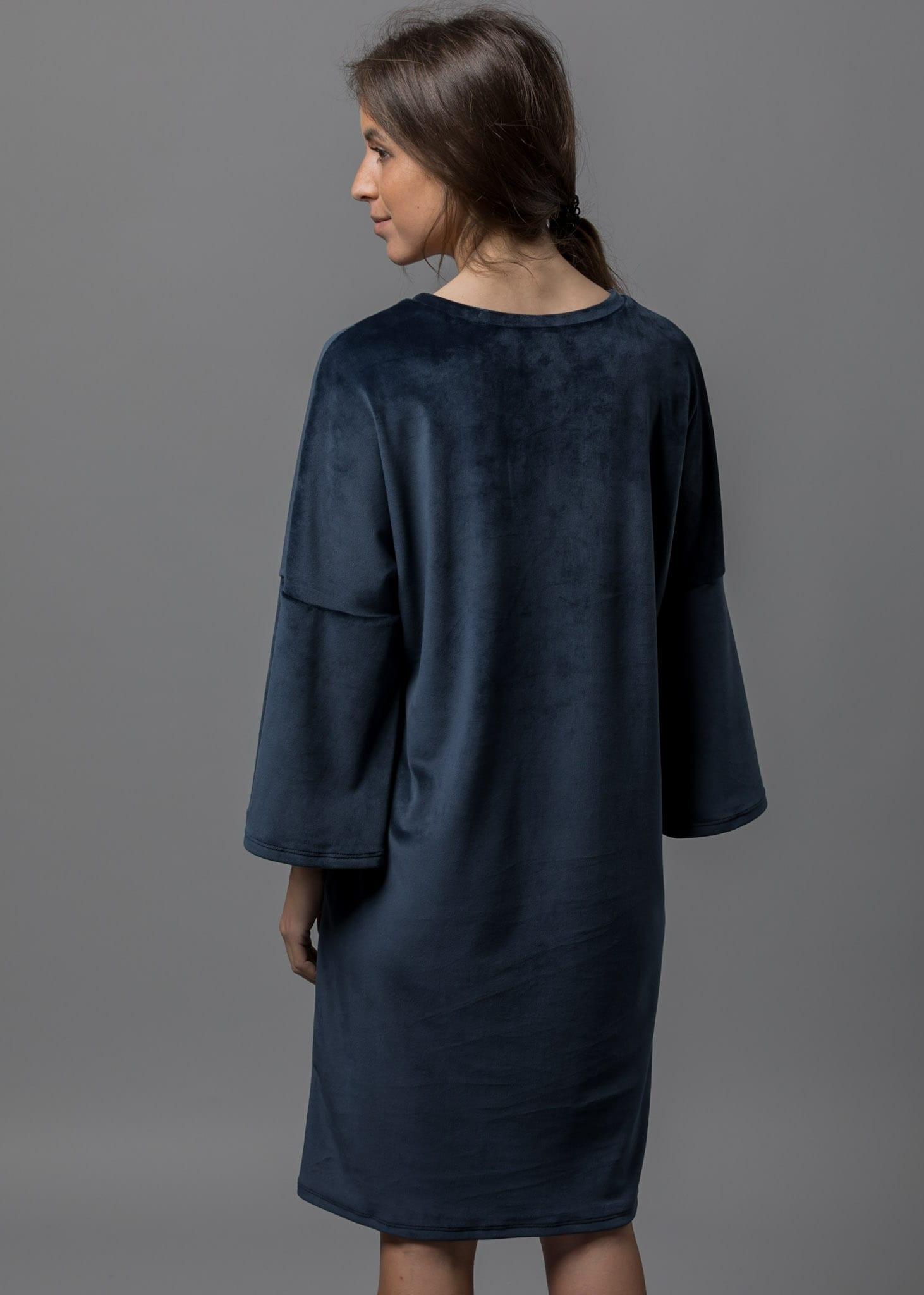 Samtkleid dunkelblau von Connemara