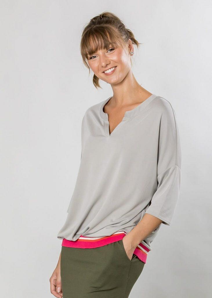 Connemara Shirt Lisa aus Modal in silber |Made in EU