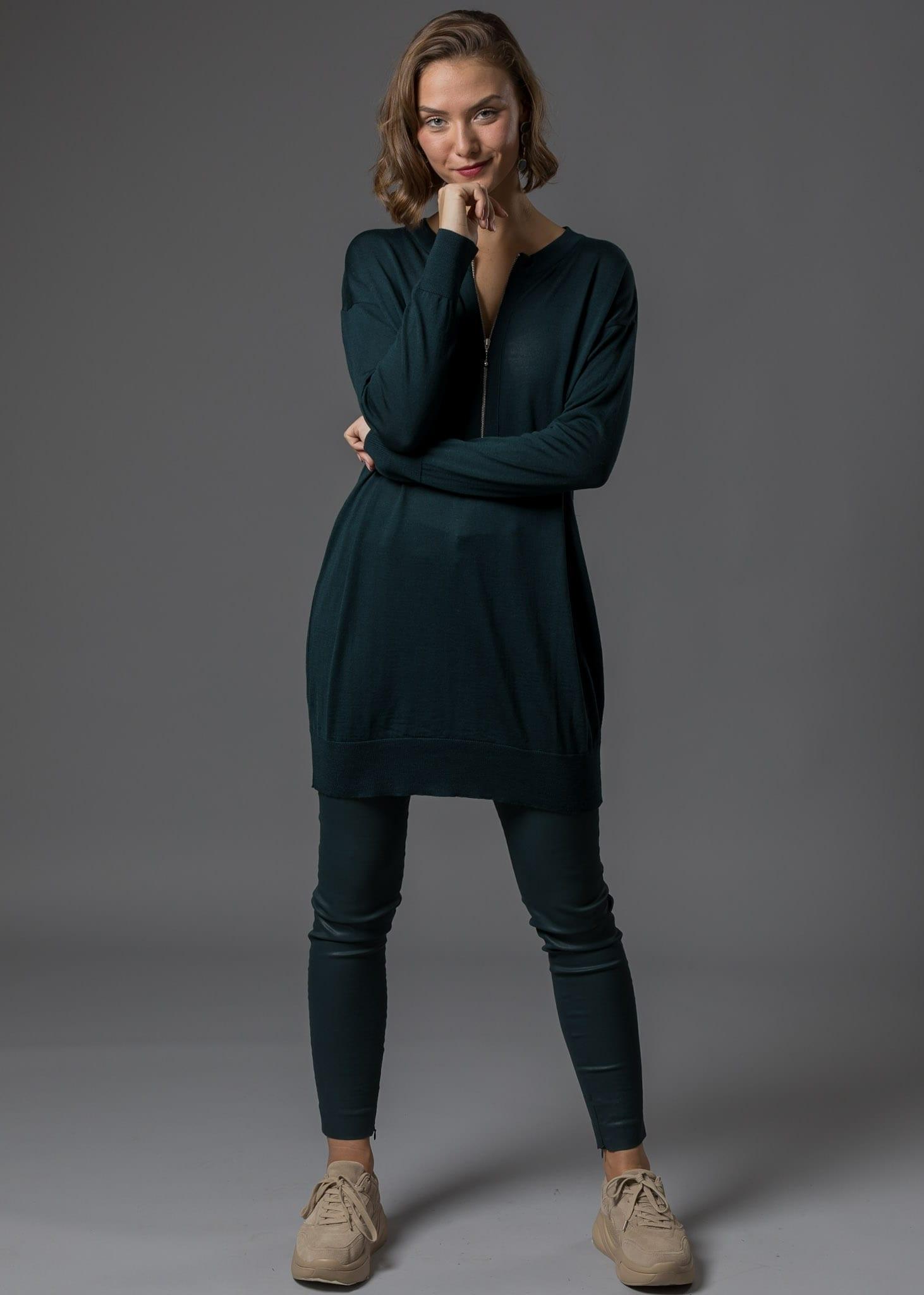 Kleid Wolle Uljana von Connemara in tannengrün