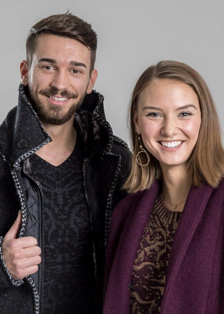 Connemara Mantel Youri und Mantel Ludmilla aus Wolle