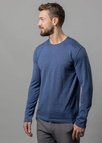 Pullover jeansblau Uwe aus Merinowolle von Connemara