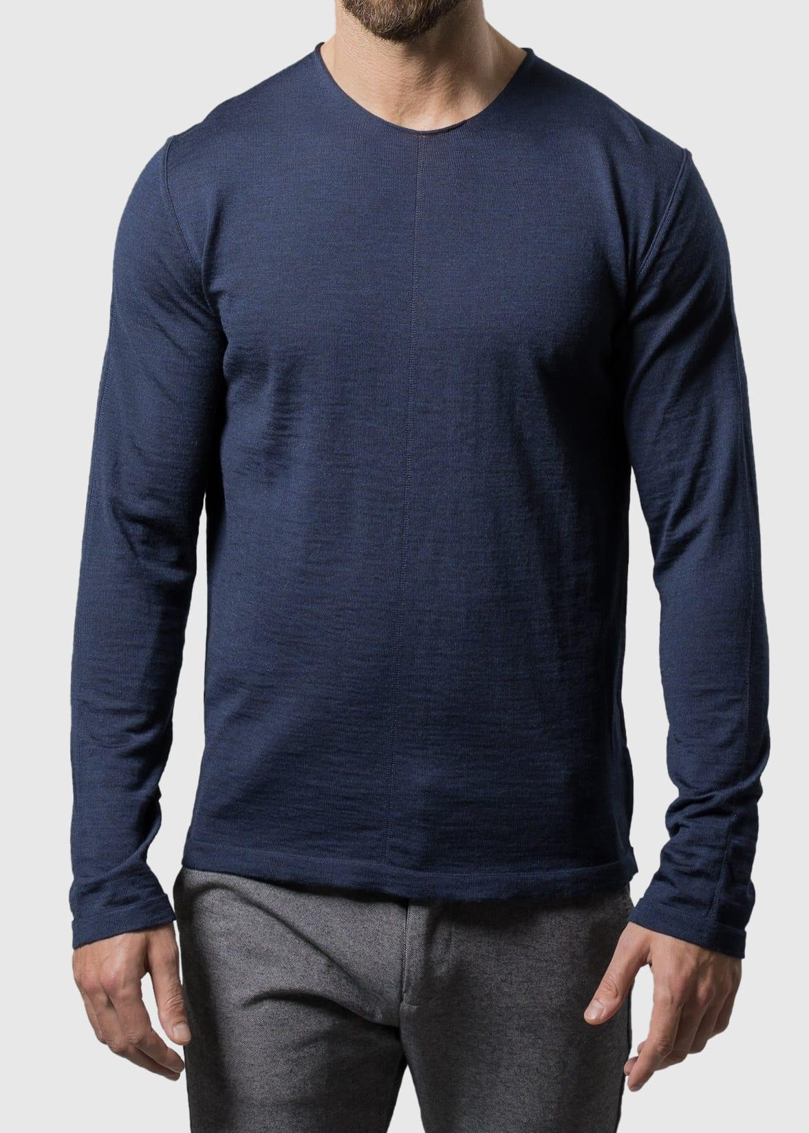 Navy Pullover Herren Uwe aus Merinowolle von Connemara