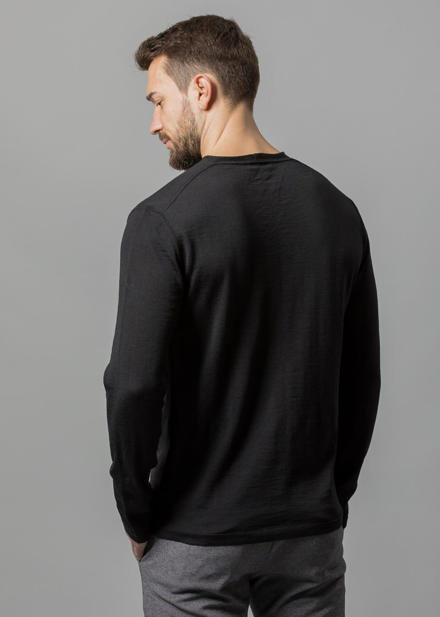 Merinowolle Pullover Herren Uwe schwarz