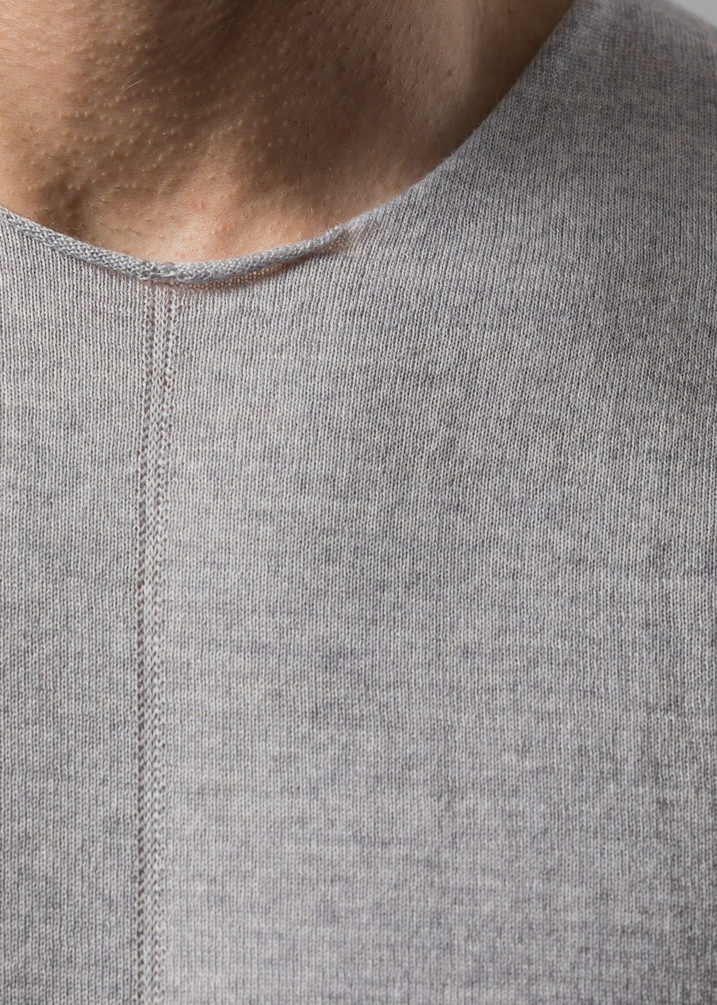 Merinowolle Pullover Herren Uwe silber