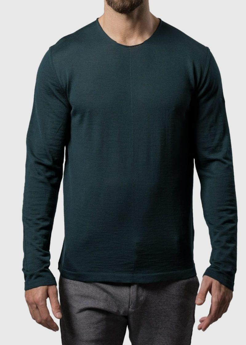 Pullover Herren grün aus Merino Uwe von Connemara