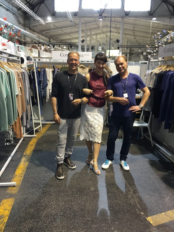 Auf dem Connemara Messestand Juni 2016 - Saule mit Jens & Mathias