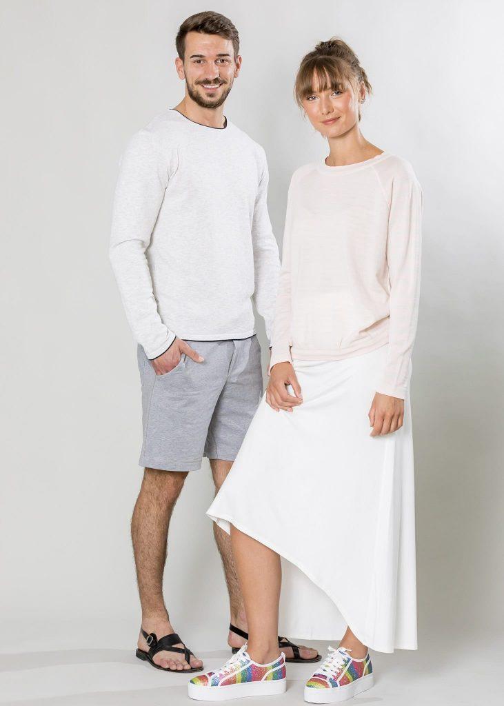 Connemara Pullover Victor aus Leinenmix in weiß | Pullover Mizzy in Merinowolle Made in EU