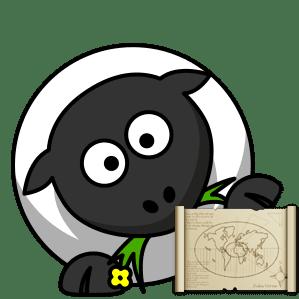 Schaf Symbol zur Hilfe auf der Connemara Hompage