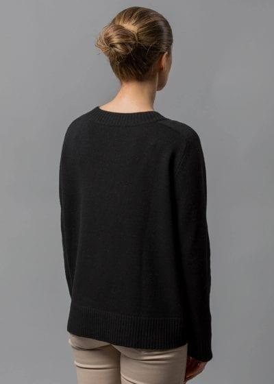Oversize Pullover Damen schwarz Rhoda von Connemara