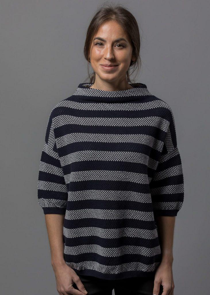lässiger Pullover mit Kelchkragen für Damen aus Baumwolle von Connemara