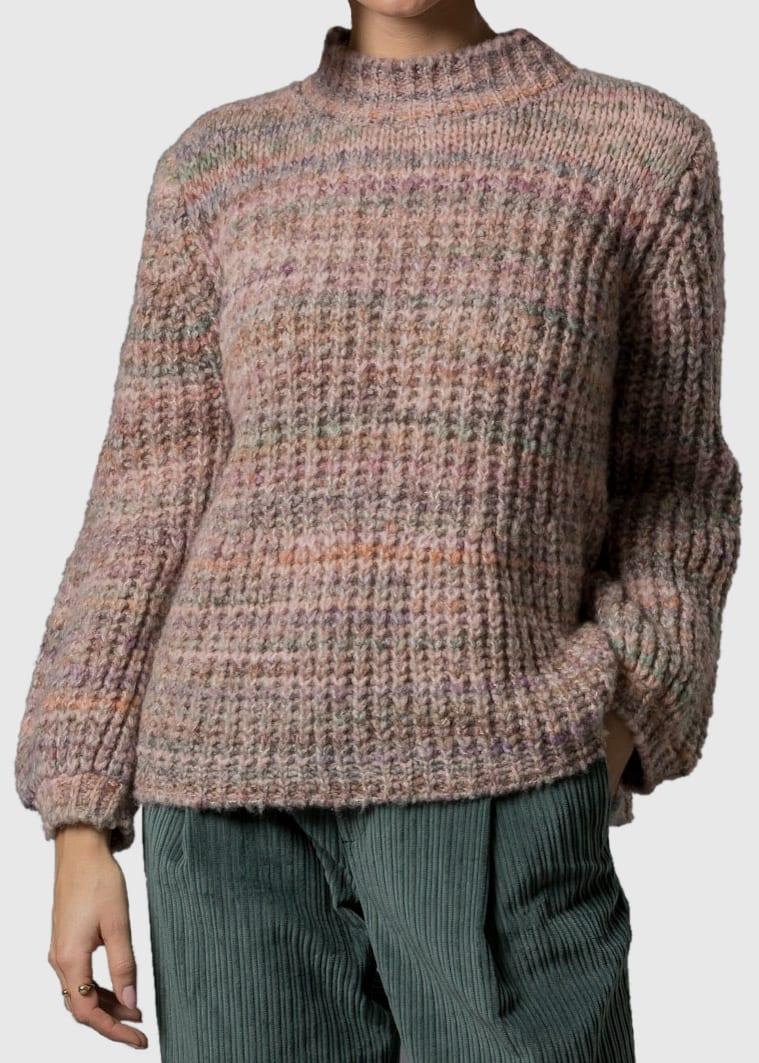 Grobstrick Pullover Damen Heike in rosa von Connemara