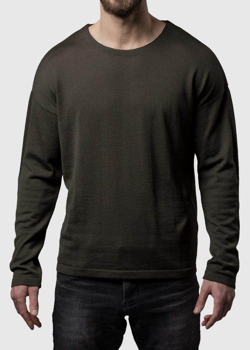 Pullover überschnittene Schulter Thorsten aus Merinowolle extrafein von Connemara