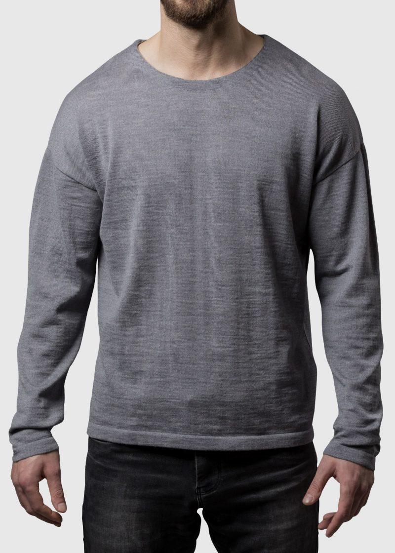 Pullover überschnittene Schulter silber melange Thorsten von Connemara