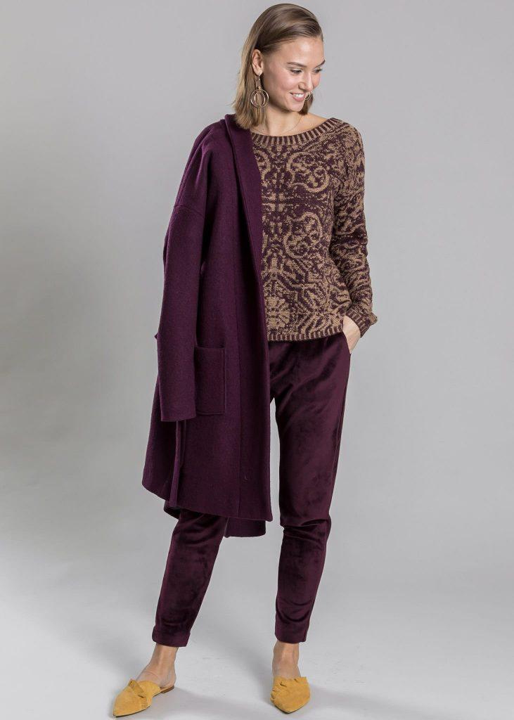 Connemara Pullover Rabea aus Wolle-Kaschmir-Mix | Mantel Ludmilla aus Wolle