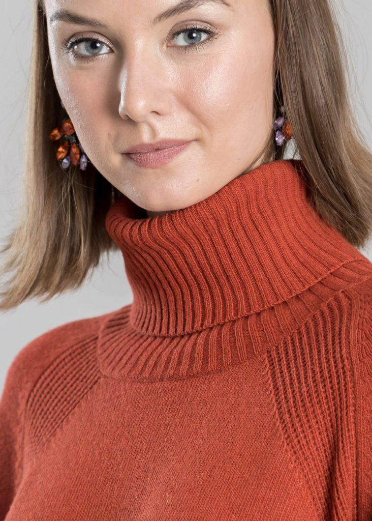 Connemara Pullover Radost aus Wolle-Kaschmir-Mix in orange